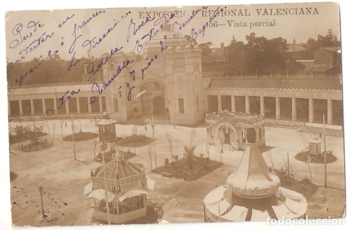 EXPOSICION REGIONAL VALENCIANA. 56. VISTA PARCIALL. ANDRES FABERT, VALENCIA. ESCRITA. .VELL I BELL (Postales - España - Comunidad Valenciana Antigua (hasta 1939))