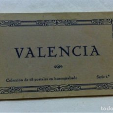 Postales: VALENCIA. COLECCIÓN DE 18 POSTALES EN HUECOGRABADO JDP. SERIE PRIMERA.COMPLETO.SIN ESCRIBIR. Lote 181678093