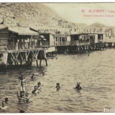 Postales: ALICANTE - LOS BAÑOS - FOTOGRÁFICA. NUM. 61 EDIT. BAZAR PASCUAL LOPEZ - ANDRÉS FABERT - VALENCIA. Lote 181823562