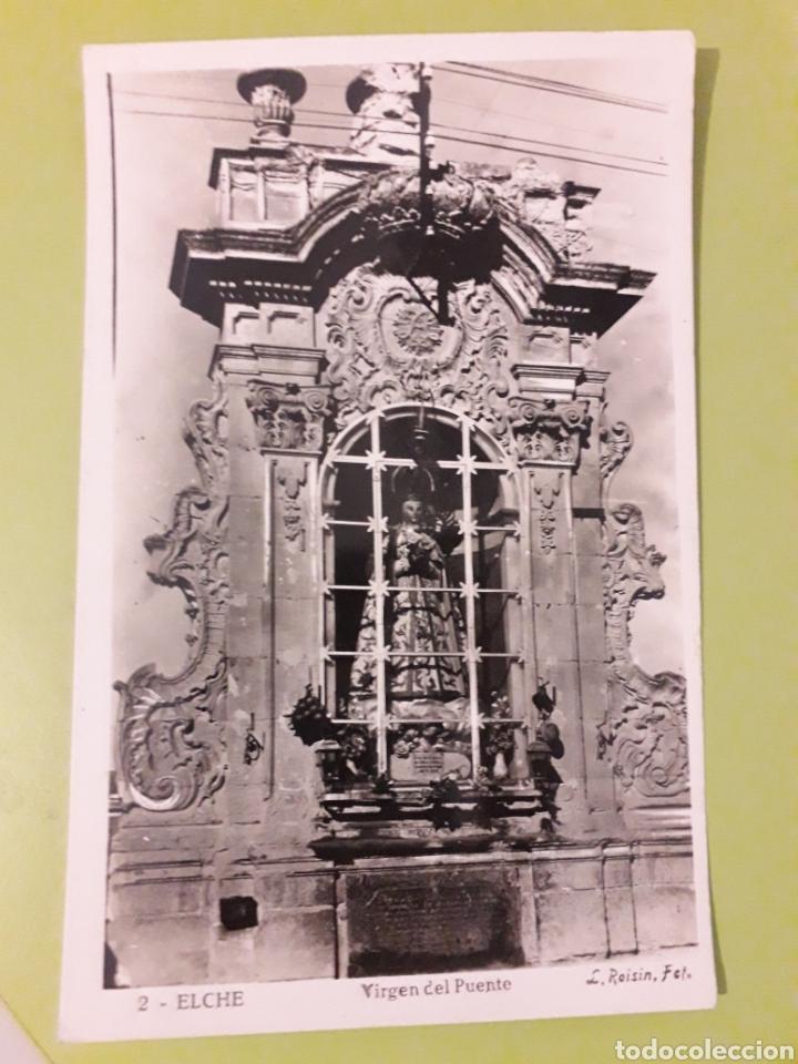 2 ELCHE ROISIN VIRGEN DEL PUENTE POSTAL ESCRITA (Postales - España - Comunidad Valenciana Antigua (hasta 1939))