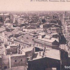 Postales: VALENCIA. NUM. 20. PANORÁMICA. CALLE DE SAN VICENTE. JOSE DURA. VALENCIA. Lote 182660987