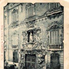 Postales: FERIA DE VALENCIA 1902, PUERTA PALACIO DOS AGUAS. Lote 182815515