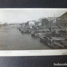 Postales: CULLERA VALENCIA MUELLE EN EL JUCAR. Lote 182980595