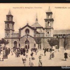 Postais: ALICANTE TORREVIEJA IGLESIA TARJETA POSTAL ORIGINAL CA1900 IMPRENTA DE A. REBAGLIATO. Lote 182986415