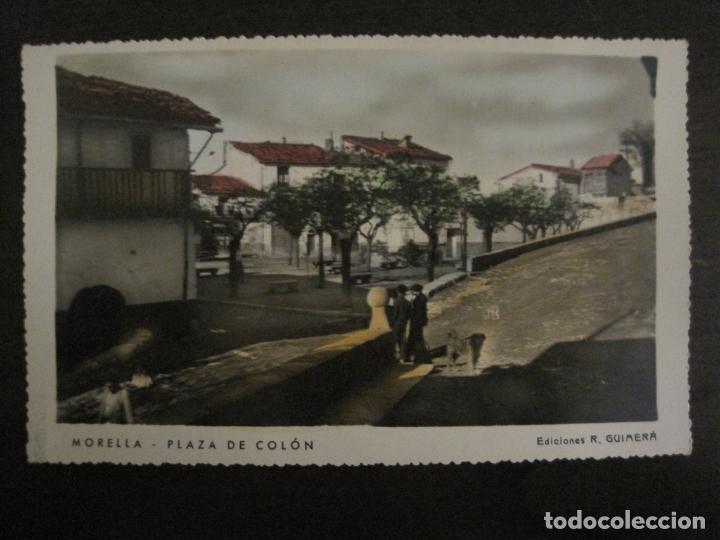 MORELLA-PLAZA DE COLON-ED·R.GUIMERA-POSTAL FOTOGRAFICA ANTIGUA-(64.178) (Postales - España - Comunidad Valenciana Antigua (hasta 1939))