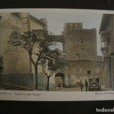 Postales: MORELLA-PUERTA DE SAN MIGUEL-COCHE-ED·R.GUIMERA-POSTAL FOTOGRAFICA ANTIGUA-(64.183). Lote 183197561