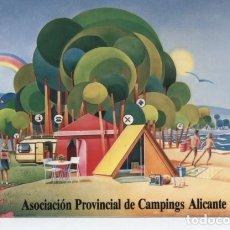 Postales: ALICANTE. ASOCIACION PROVINCIAL DE CAMPINGS DE ALICANTE. Lote 183853442