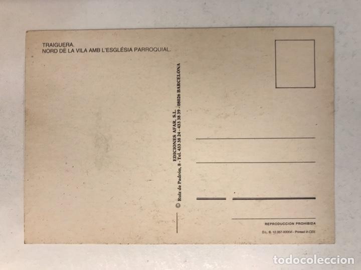 Postales: TRAIGUERA (Castellón) Postal Nord de la Vila amb L'Esglesia parroquial. Edita: Ed. Afar (h.1990?) - Foto 2 - 183861457