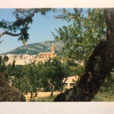 Postales: TRAIGUERA (CASTELLÓN) POSTAL NORD DE LA VILA AMB L'ESGLESIA PARROQUIAL. EDITA: ED. AFAR (H.1990?). Lote 183861457