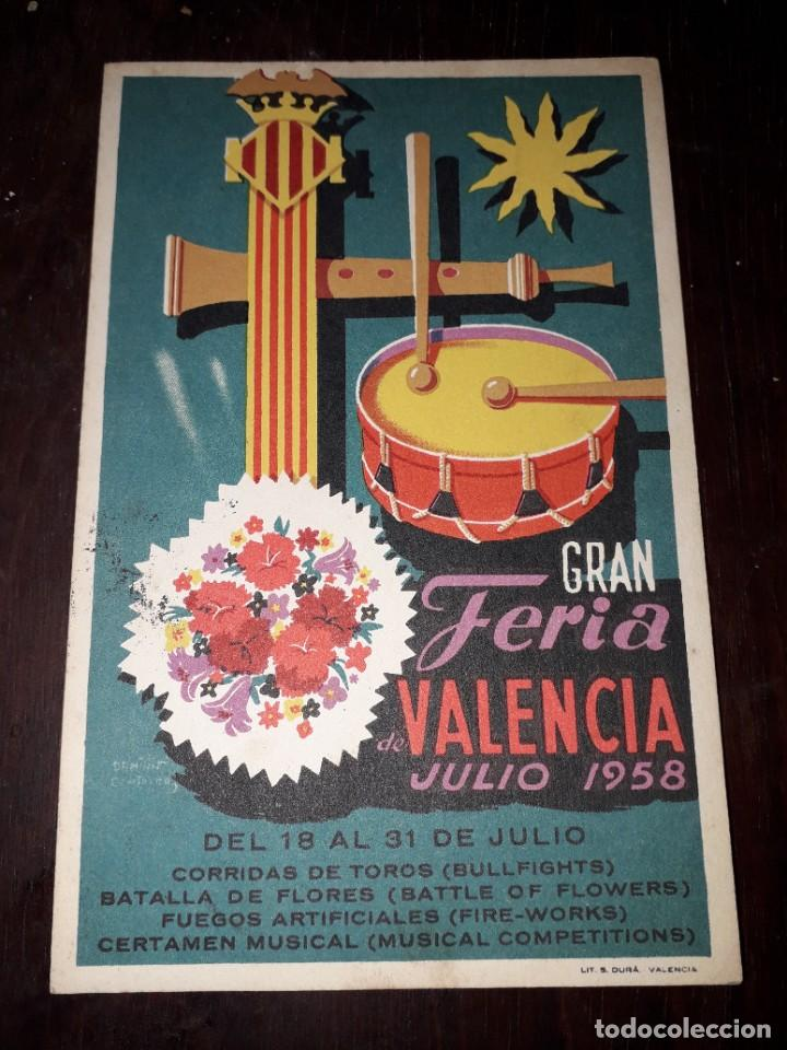 Nº 5061 POSTAL GRAN FERIA DE VALENCIA JULIO 1958 (Postales - España - Comunidad Valenciana Moderna (desde 1940))