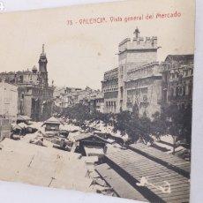 Postales: POSTAL VALENCIA VISTA GENERAL DEL MERCADO. Lote 183893573