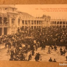 Postales: POSTAL EXPOSICIÓN NACIONAL VALENCIA PISTA ACTO INAUGURACIÓN NÚMERO 105. Lote 184062417