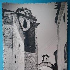 Postales: VIVER POSTAL FOTOGRÁFICA CALLE DE LA IGLESIA CASTELLÓN AÑOS '50. Lote 187096070