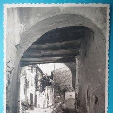 Postales: VIVER POSTAL FOTOGRÁFICA ENTRADA CALLE DE LOS HUERTOS CASTELLÓN 1955. Lote 187096271