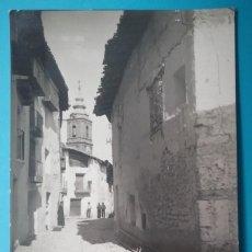 Postales: FORCALL POSTAL FOTOGRÁFICA CALLE SAN ROQUE CASTELLÓN AÑOS '50. Lote 187096951