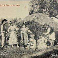 Postais: TARJETA POSTAL. VALENCIA. EN LA HUERTA DE VALENCIA. UN PAJAR. FOTOTIPIA THOMAS. . Lote 187159490