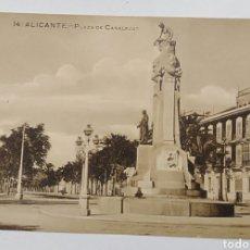 Postales: ALICANTE, PLAZA DE CANALEJAS, PAPELERÍA MARIMON. Lote 187328857