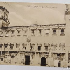 Postales: ALICANTE, PAPELERÍA MARIMON, AYUNTAMIENTO. Lote 187329297