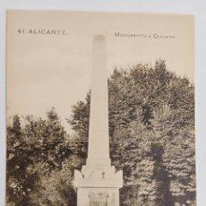 Postales: ALICANTE, PAPELERÍA MARIMON, MONUMENTO A QUIJANO. Lote 187329857