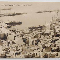 Postales: ALICANTE, PAPELERÍA MARIMON, VISTA DEL PUERTO. Lote 187330252