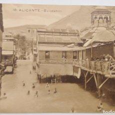 Postales: ALICANTE, PAPELERÍA MARIMON, BALNEARIOS. Lote 187330403