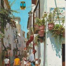 Postales: (5) BENIDORM. CALLE TIPICA. FRUTERIA ... SIN CIRCULAR. Lote 187512797