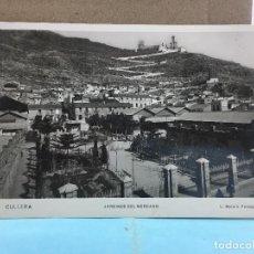 Postales: POSTAL DE CULLERA JARDINES DEL MERCADO - FOTOGRAFO L.ROISIN Nº 19. Lote 188432645