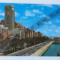 Postales: ALICANTE, POSTAL EXPLANADA DE ESPAÑA Y PUERTO. Lote 189086106