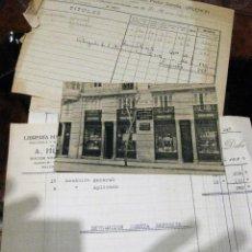 Postales: POSTAL ANTIGUA LIBRERIA MARAGUAT ESPAÑOLA Y EXTRANJERA VALENCIA . . ESCRITA AÑO 1925 FACTURAS . Lote 189588943