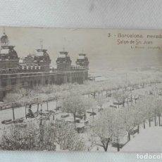 Postales: 697 POSTAL - ROISIN 3 - BARCELONA NEVADA SALON SAN JUAN - MATASELLOS 1926 VALENCIA SUC.7 - TREN. Lote 190799653