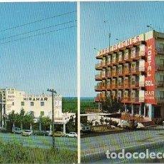 Postales: TORREBLANCA - COMPLEJO HOTELERO HOSTAL SOL - RESTAURANTE Y HABITACIONES MIRAMAR. Lote 191908853