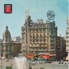 Postales: VALENCIA, PLAZA DEL CAUDILLO - ESCUDO DE ORO Nº 1146 - ESCRITA. Lote 191925740