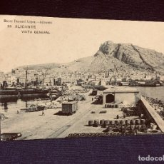 Postales: TARJETA POSTAL ALICANTE 33 VISTA GENERAL NO CIRCULADA BAZAR PASCUAL LOPEZ. Lote 192857747