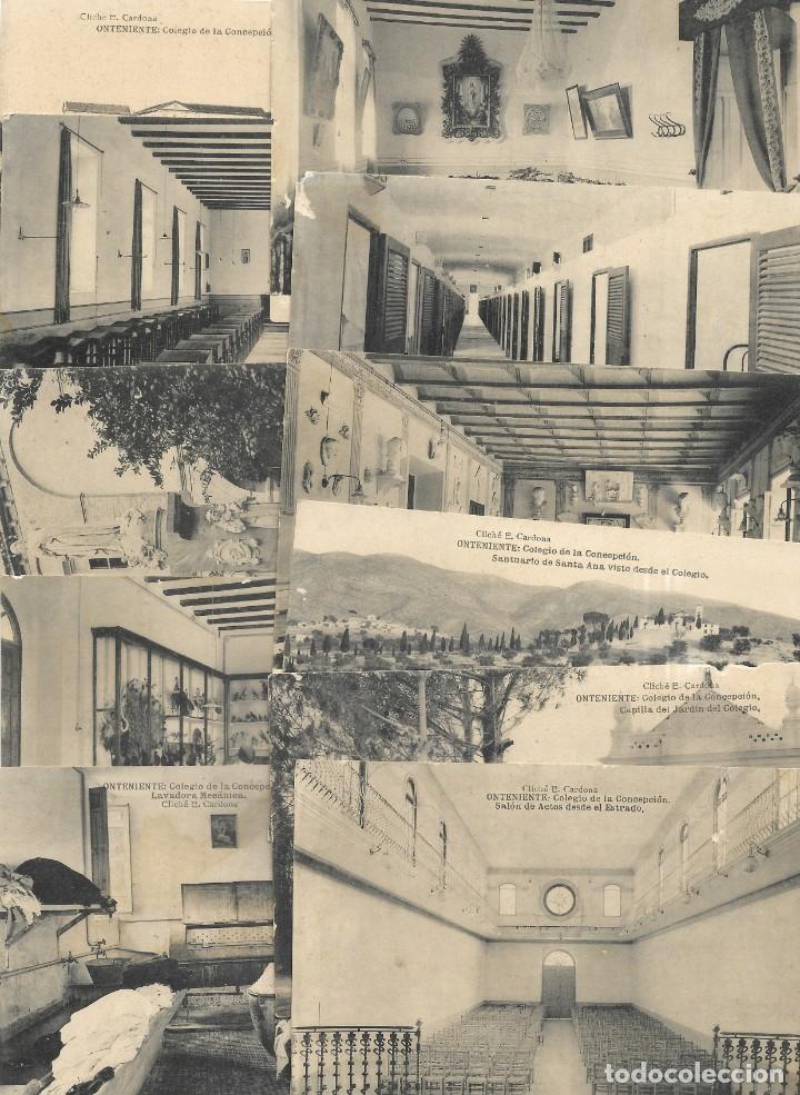 ONTENIENTE (VALENCIA) LOTE 29 POSTALES COLEGIO DE LA CONCEPCIÓN DIFERENTES Y 1 VISTA GENERAL, HAUSER (Postales - España - Comunidad Valenciana Antigua (hasta 1939))