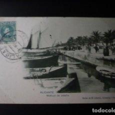 Postales: ALICANTE, MUELLE DE COSTA.. Lote 194174991