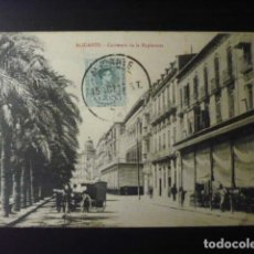 Postales: ALICANTE, CARRETERA DE LA EXPLANADA.. Lote 194175485