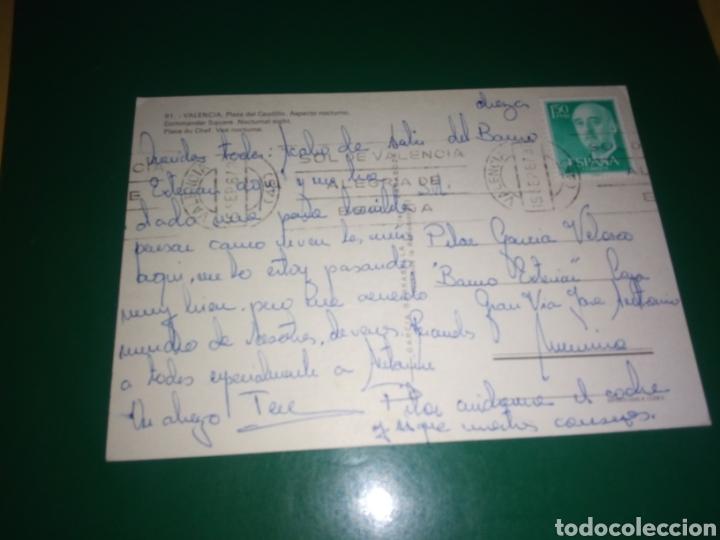 Postales: Antigua postal de Valencia. Plaza del Caudillo. Años 60 - Foto 2 - 194234093