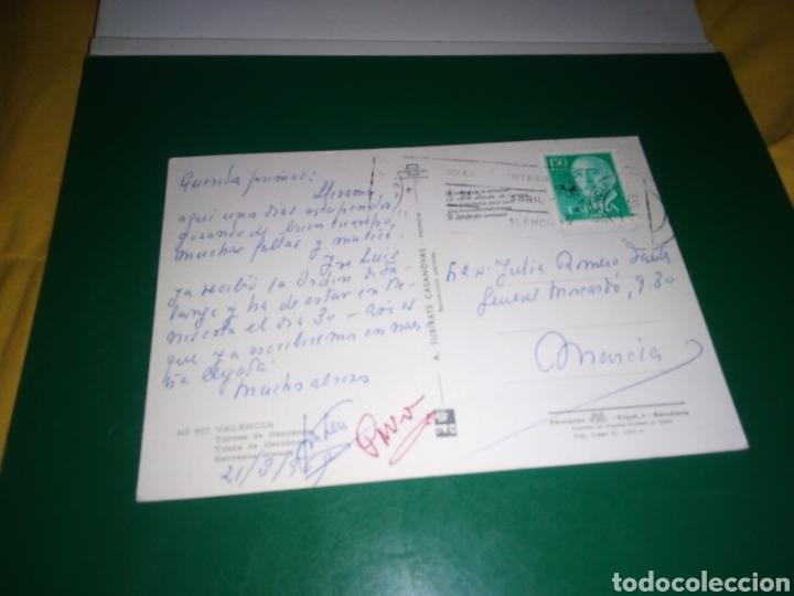 Postales: Antigua postal de Valencia. Torre de Serranos. Años 60 - Foto 2 - 194235553