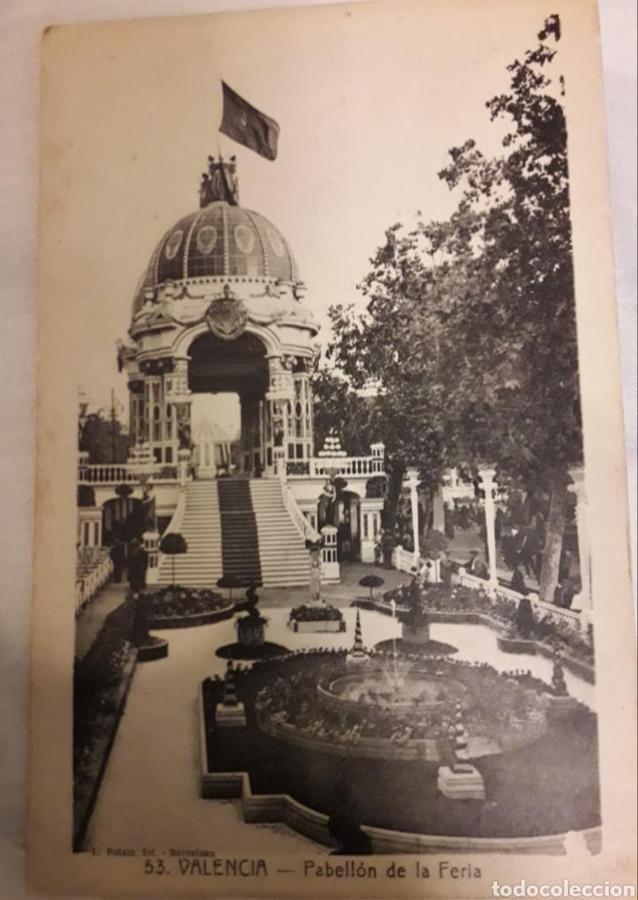 ANTIGUA POSTAL DE VALENCIA PABELLÓN DE LA FERIA (Postales - España - Comunidad Valenciana Antigua (hasta 1939))