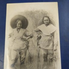 Postales: POSTAL FOTOGRÁFICA NIÑAS EN UN ARROZAL, VALENCIA. ?? NO FIGURA FOTOGRAFIÓ.. Lote 194265115