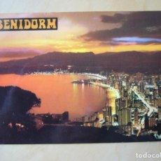 Postales: BENIDORM (ALICANTE) - ATARDECER (ESCRITA Y CIRCULADA). Lote 194291471