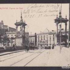 Postales: POSTAL VALENCIA 1916 PUENTE DEL REAL. Lote 194384058