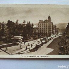 Postales: POSTAL -- ALCOY - AVENIDA DEL GENERALISIMO -- CIRCULADA --. Lote 194497102