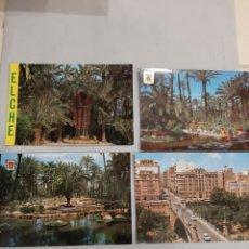 Postales: ELCHE PUENTE CANALEJAS Y HUERTO DEL CURA VALENCIA. Lote 194716873