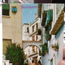 Postales: POSTAL BENIDORM CALLE DE LOS GATOS N 9 GALIANA. Lote 194936490