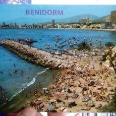 Postales: POSTAL BENIDORM PUERTO Y PLAYA PONIENTE N 161 GALIANA. Lote 194960478