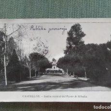 Postales: POSTAL CASTELLON ANDEN CENTRAL DEL PASEO DE RIBALTA. Lote 194992860
