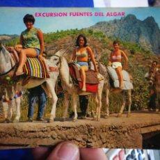 Postales: POSTAL CALLOSA DE ENSARRIA ALICANTE EXCURSIÓN FUENTES DEL ALGAR N 16 GALIANA. Lote 195026891