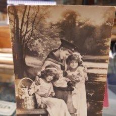 Postales: ANTIGUA POSTAL NIÑOS MARINERO TORREVIEJA ALICANTE 1914. Lote 195084820