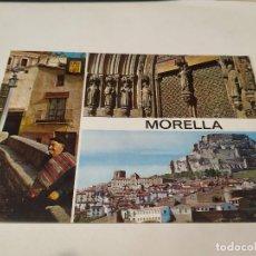 Postales: CASTELLÓN - POSTAL MORELLA - RINCÓN TÍPICO - IGLESIA ARCIPRESTAL - PUERTA PRINCIPAL - VISTA PARCIAL. Lote 195113033